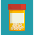 Medical medicine pills vector image vector image