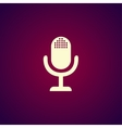 microphone web icon flat design vector image vector image