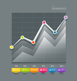 Modern Graphs info-graphic and icons vector image vector image