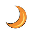 moon quarter waning cartoon vector image vector image