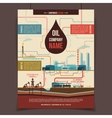 Oil company corporate poster vector image vector image