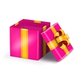 Open red gift vector image vector image