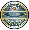 oysters gold label vector image vector image