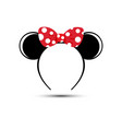 perfect mouse ears with red bow headband vector image vector image