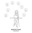 Remote team concept vector image vector image