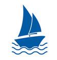 sail boat icon vector image