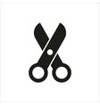 scissors icon on white background vector image vector image