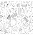 seamless pattern with different kinds of garbage vector image