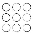 set hand drawn circle frame vector image vector image