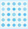 set of 25 hand drawing christmas snowflakes vector image vector image