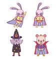 set of animals halloween costume vector image vector image