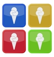 set of four square icons with ice cream vector image vector image