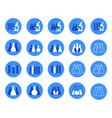 set of of chemical lab icons vector image vector image