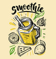 sketch natural smoothie vector image vector image