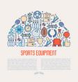 sport equipment concept in half circle vector image
