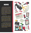 television news poster for journalism profession vector image vector image
