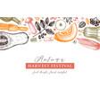 thanksgiving day design autumn harvest festival vector image vector image