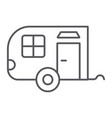 trailer thin line icon car and travel vehicle vector image vector image