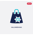 two color halloween bag icon from halloween vector image vector image