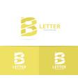 unique letter b logo design template vector image vector image