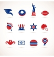 USA - collection of icons vector image vector image