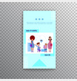 vertical banner - back to school and sale flat vector image vector image
