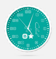 wall clocks modern dial plate clock vector image
