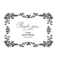 wedding black frame of roses vector image vector image