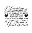 wedding quotes and slogan good for tee i love vector image