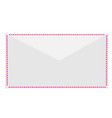 white postal envelope vector image