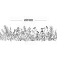 wild flowers seamless vector image vector image