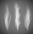Set of transparent gray smoke vector image
