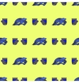 Blue Helmet and Gloves Seamless Pattern vector image