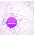 Geometrical background with purple lines vector image