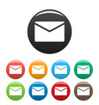 mail icons set simple vector image