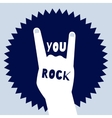 You rock poster template Devils horns sign vector image
