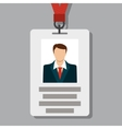 Badge Pass Card ID in Modern Flat Style vector image