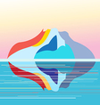 seascape on the background of island vector image