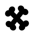 bone food mascot icon vector image