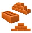 Brick set vector image