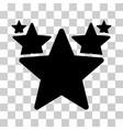 stars hit parade icon vector image