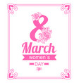 8 march womens day elegant vector image vector image