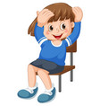 a cute girl citting on a chair vector image vector image