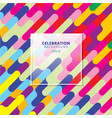 abstract celebration background colorful diagonal vector image vector image
