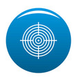 aiming radar icon blue vector image vector image