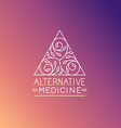 alternative medicine logo design template vector image vector image