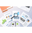 analysis financial results finance business chart vector image vector image