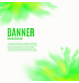 banner backdrop with paint powder explosion vector image