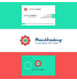 beautiful gear logo and business card vertical vector image vector image