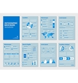 blue business a4 brochures with infographic vector image vector image